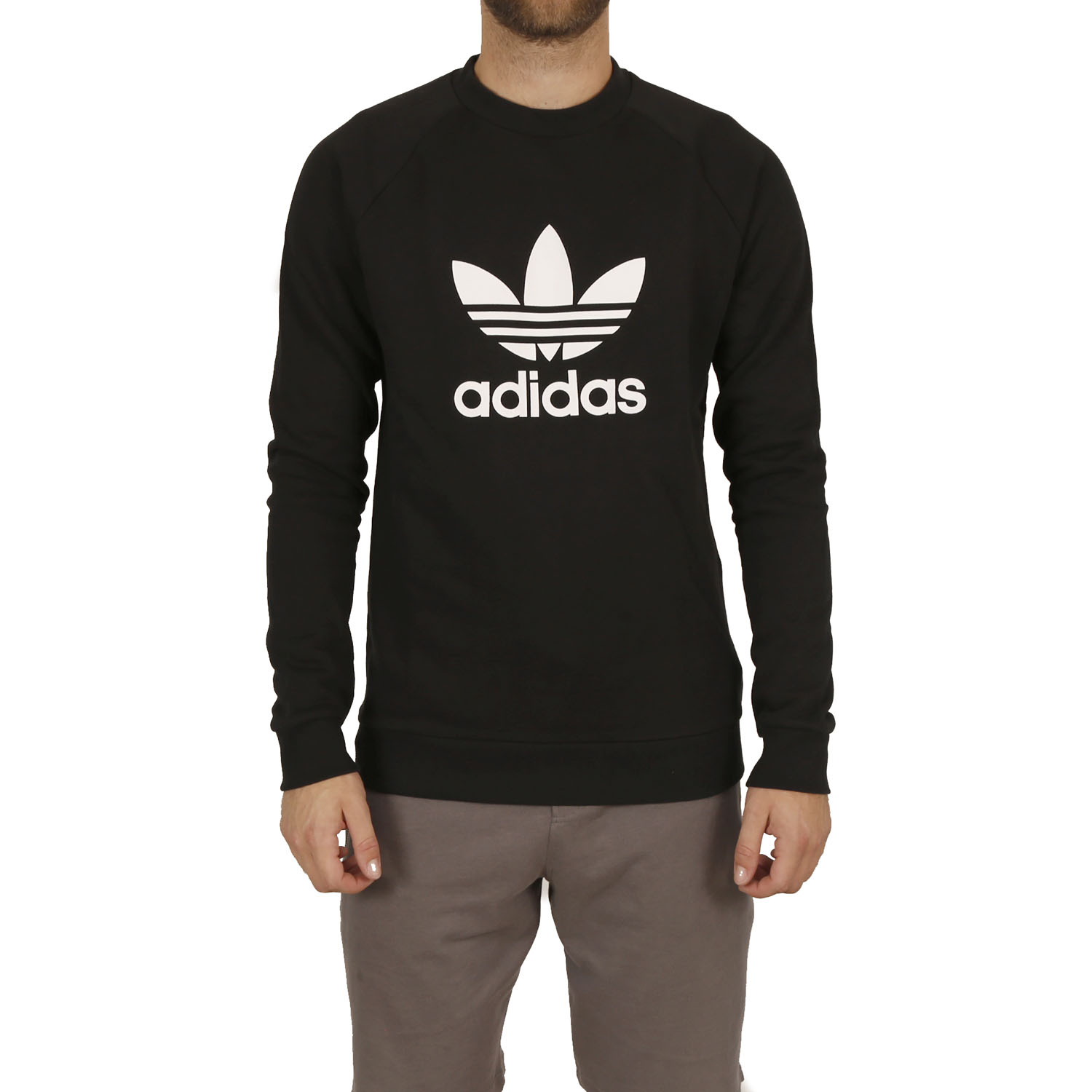 adidas Originals Trefoil Warm-up Crew Sweatshirt M ( CW1235 ) ρούχα    άνδρας    sweaters   hoodies   ζακέτες