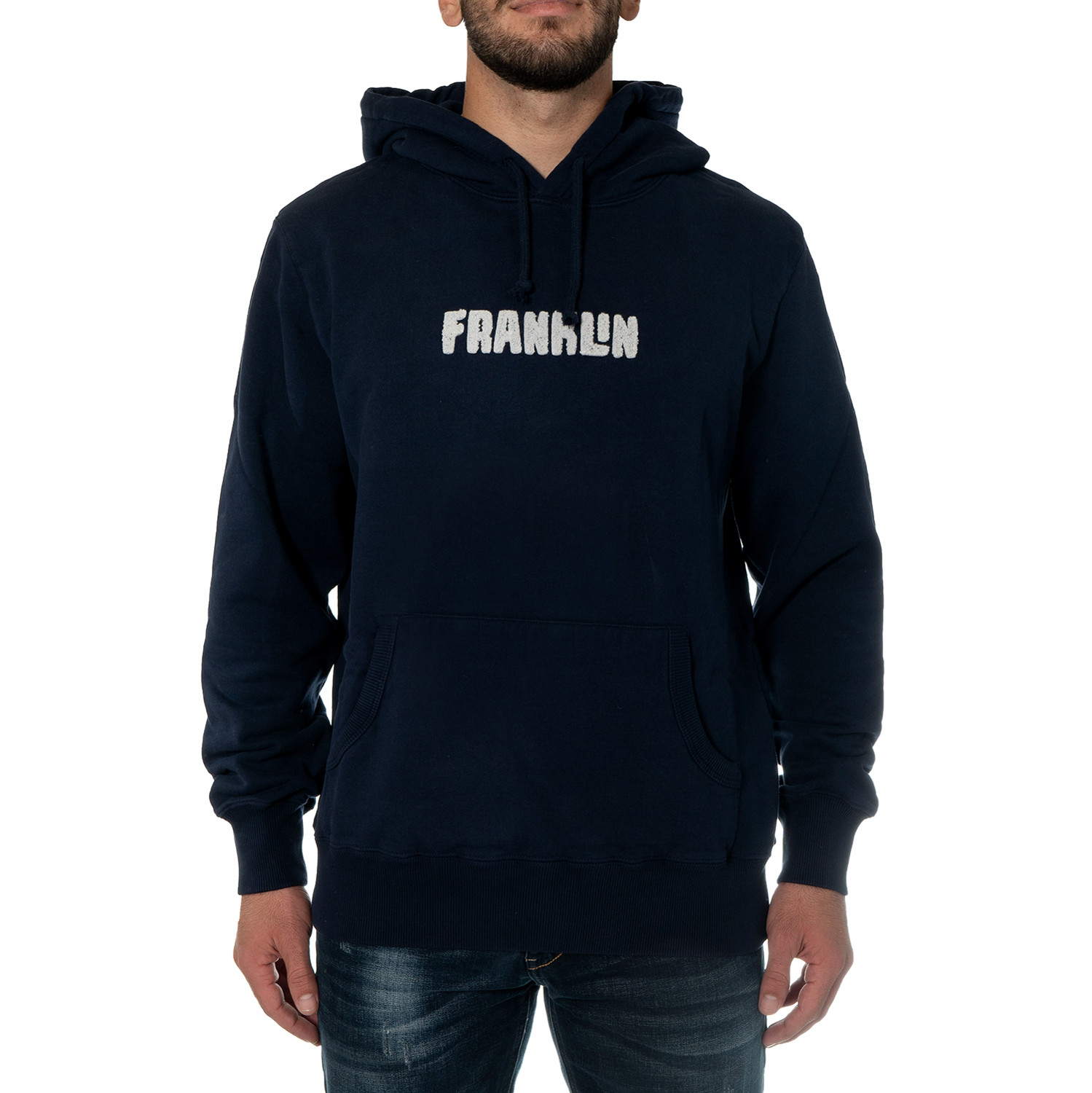 Franklin and Marshall Fleece Cotton Hoodie M ( FLMF025ANW18-0167 ) ρούχα    άνδρας    sweaters   hoodies   ζακέτες