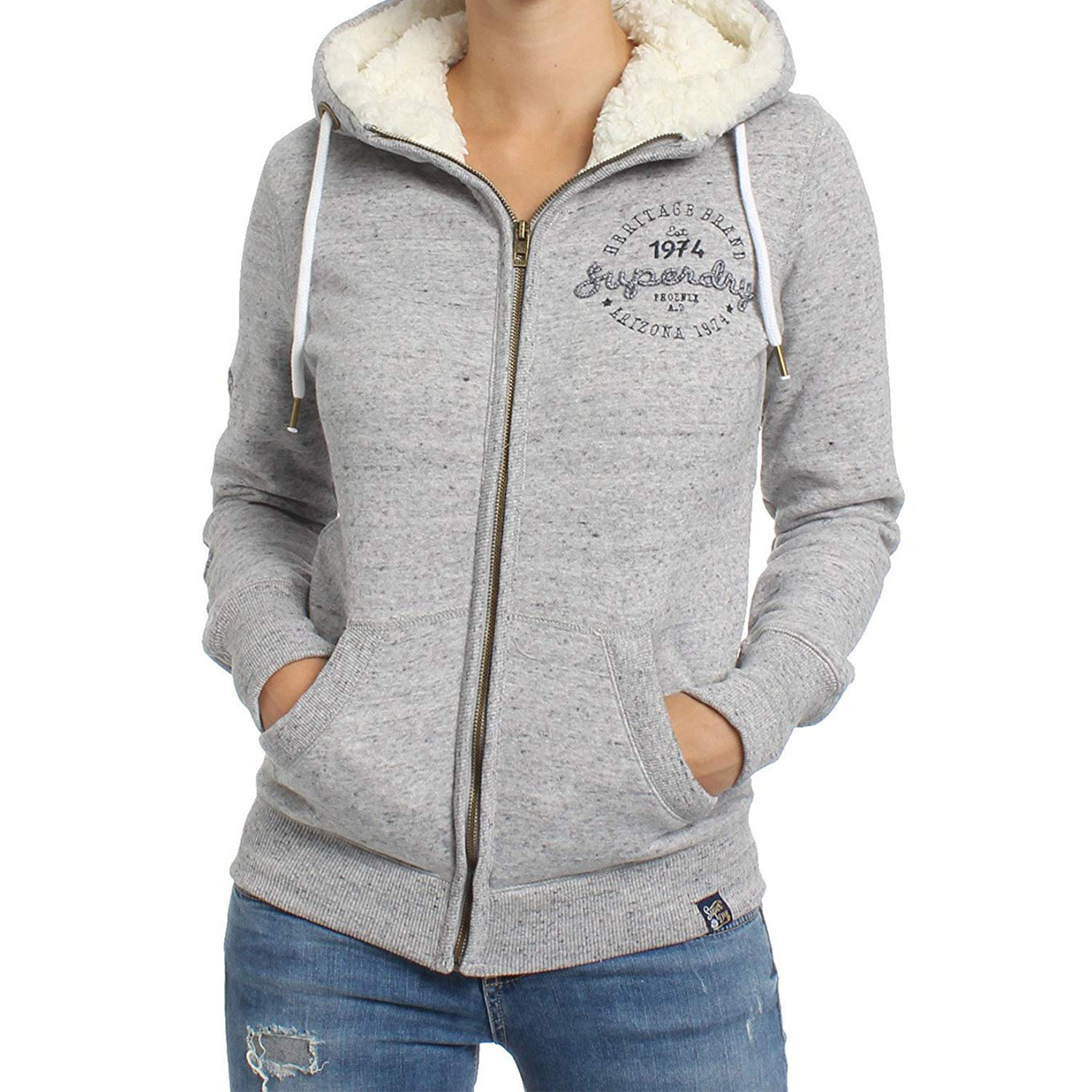 Superdry Aria applique Hoodie W ( G20002AR-WO5 ) ρούχα    γυναίκα   sweaters   hoodies   ζακέτες