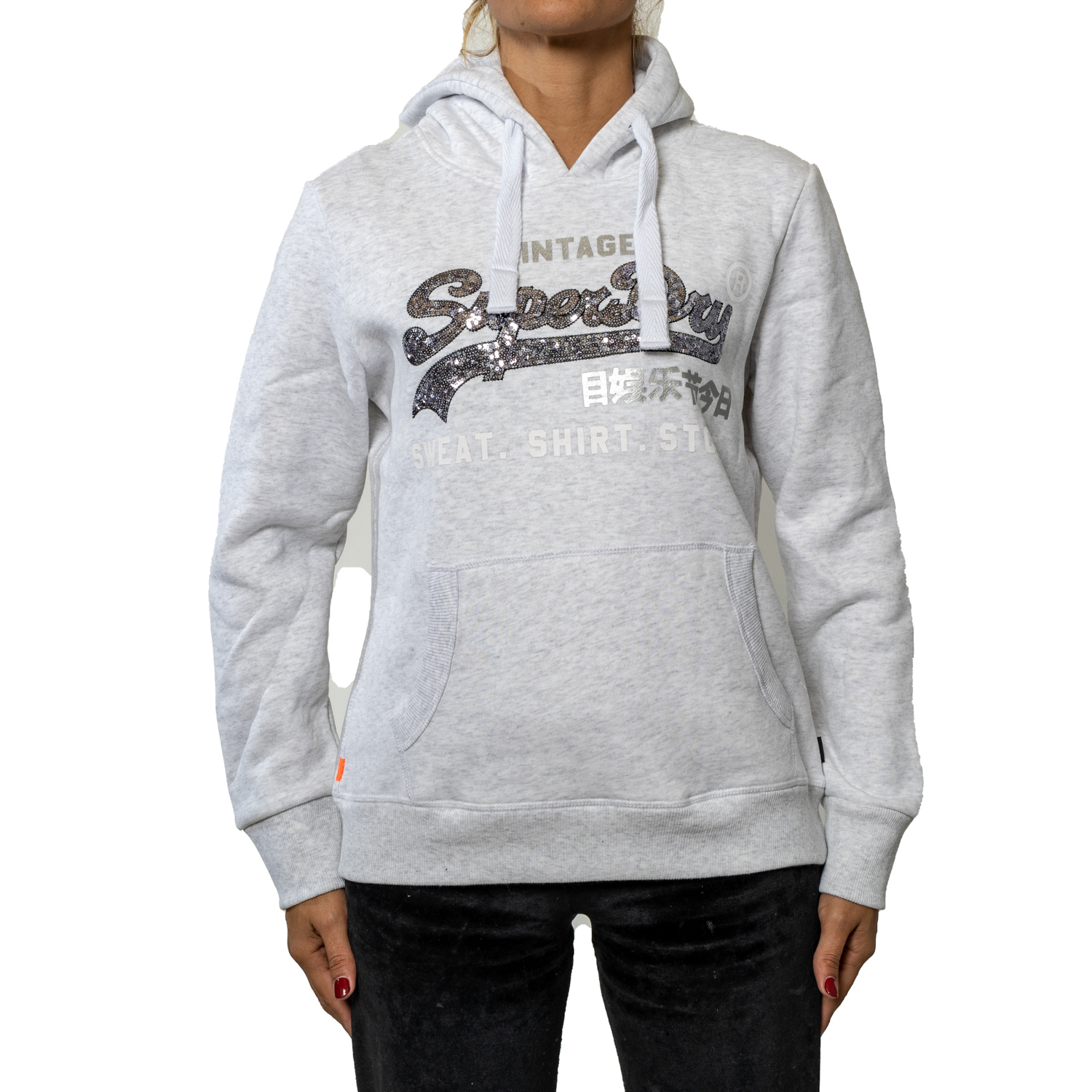 Superdry Shirt Shop Sequin Hoodie W ( G20405AR-54G ) ρούχα    γυναίκα   sweaters   hoodies   ζακέτες