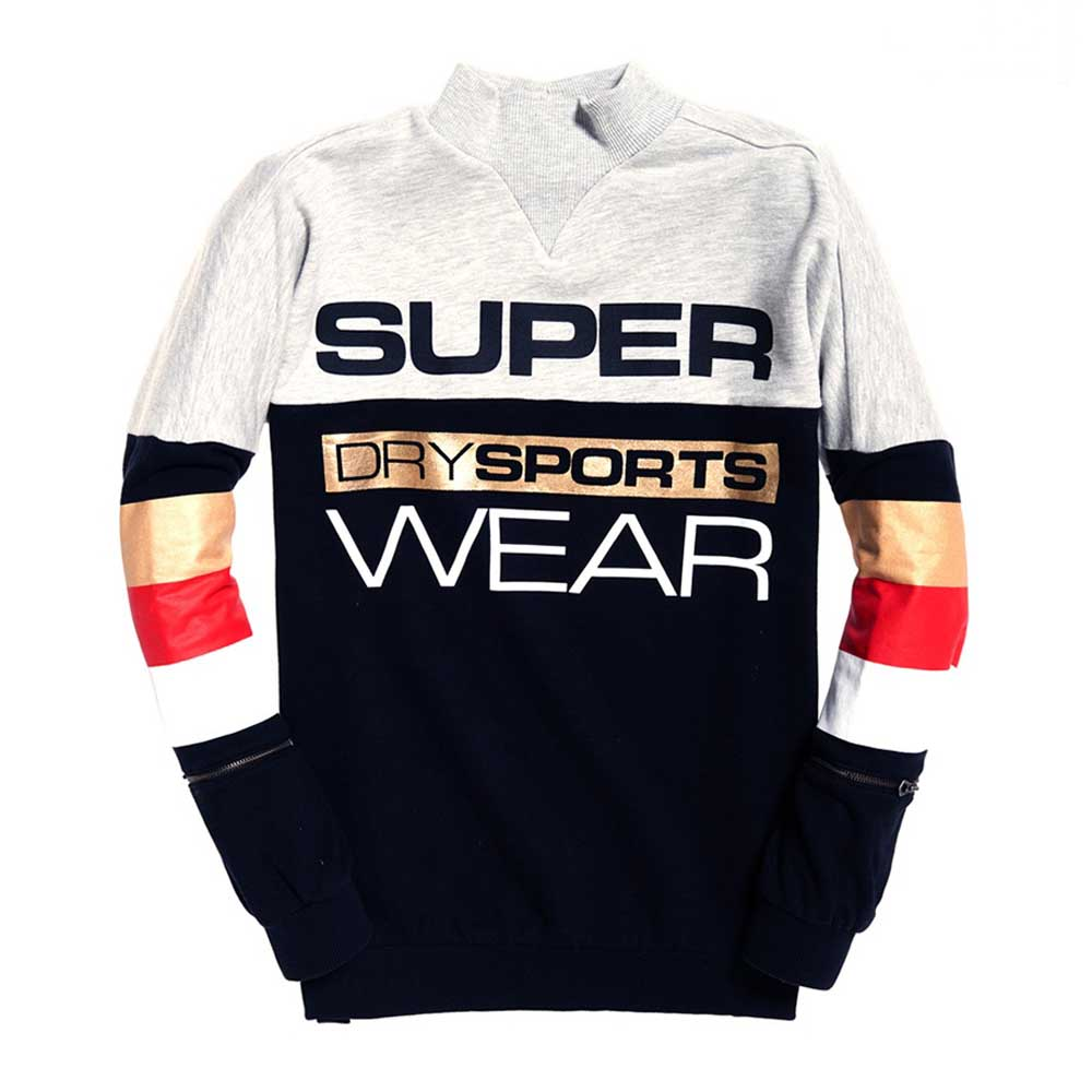 Superdry Street Sports City Crew Neck Sweater W ( GS3009TR-XL5 ) ρούχα    γυναίκα   sweaters   hoodies   ζακέτες