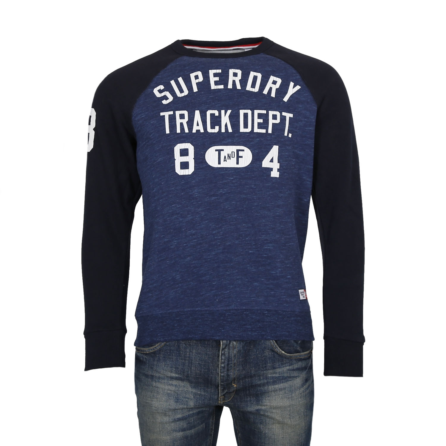 Superdry Trackster Baseball Sweater M ( M20012PP00-FL0 ) ρούχα    άνδρας    sweaters   hoodies   ζακέτες